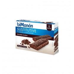 BIMANAN BARRITAS CHOCOLATE NEGRO 8 BARRITAS