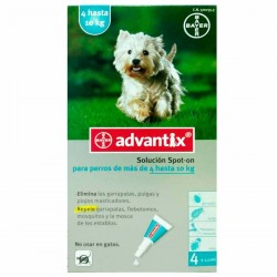 ADVANTIX 4 HASTA 10 KG 4 PIPETAS