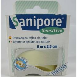 ESPARADRAPO HIPOALERGICO SANIPORE 5 M X 2,5 CM