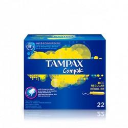 TAMPAX COMPAK TAMPON  REGULAR 22 U