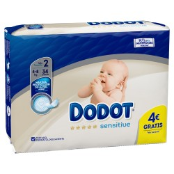 DODOT SENSITIVE T2  4-8KG 34 U